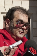 Ariel Santamaria durant la roda de premsa 21-02-2011